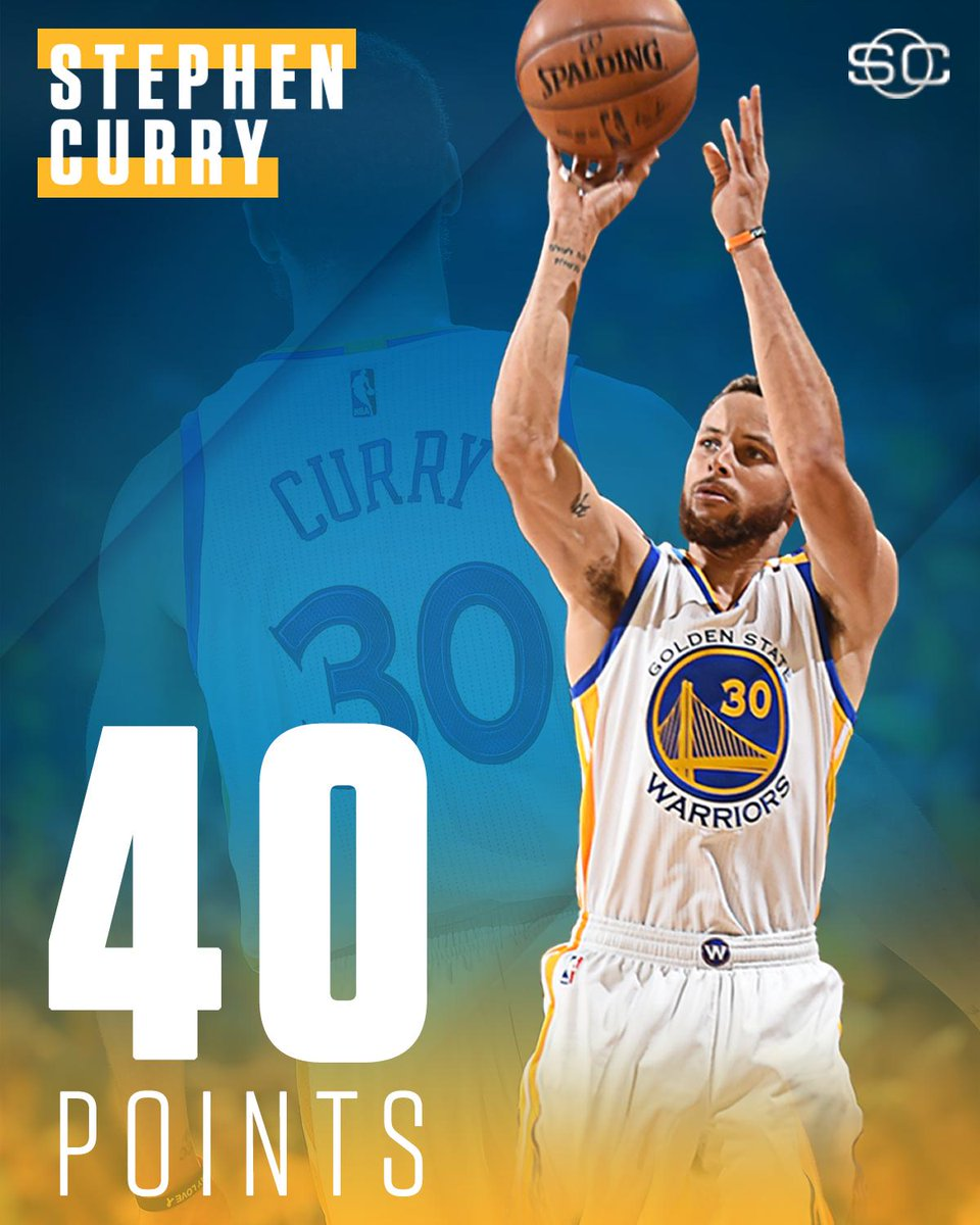 Steph dropped 40 points at home for the first time in his playoff career.