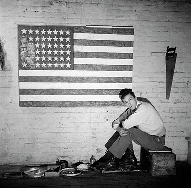Happy Birthday, Jasper Johns! One night he dreamed that he painted a giant American flag, and then he did.