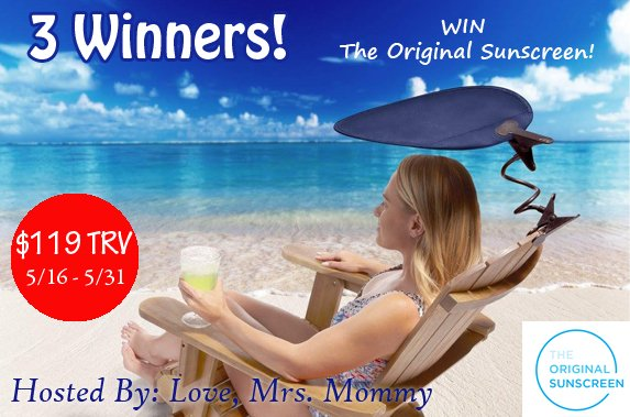 The Original Sunscreen Giveaway! 3 Winners! $119+ TRV!