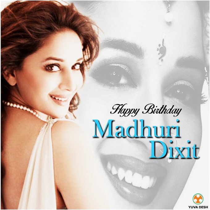 Wishing evergreen beauty, Madhuri Dixit a very Happy Birthday