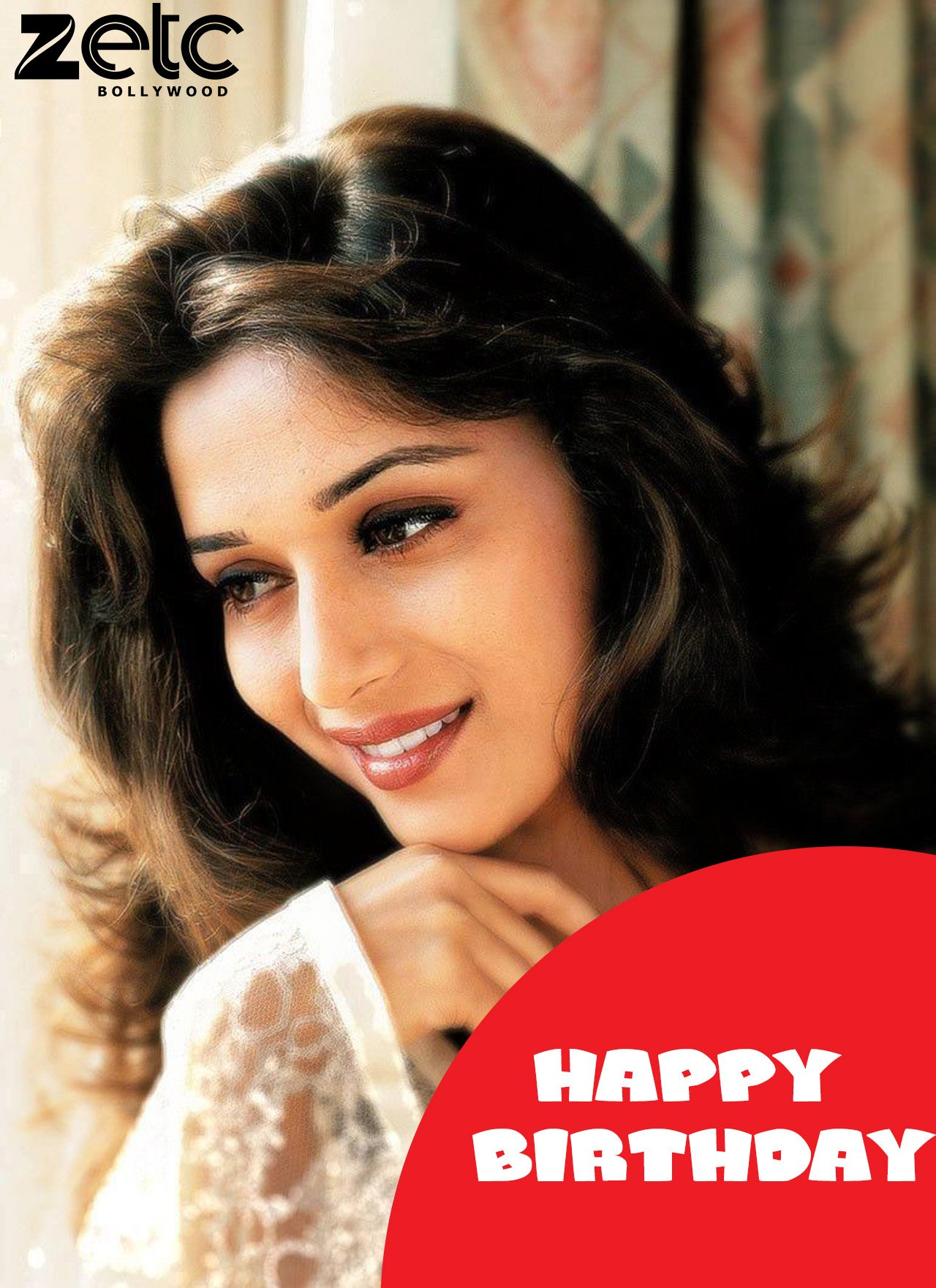 Happy  birthday  my  favourite  star   Keep  your  smile  continue # madhuri  dixit