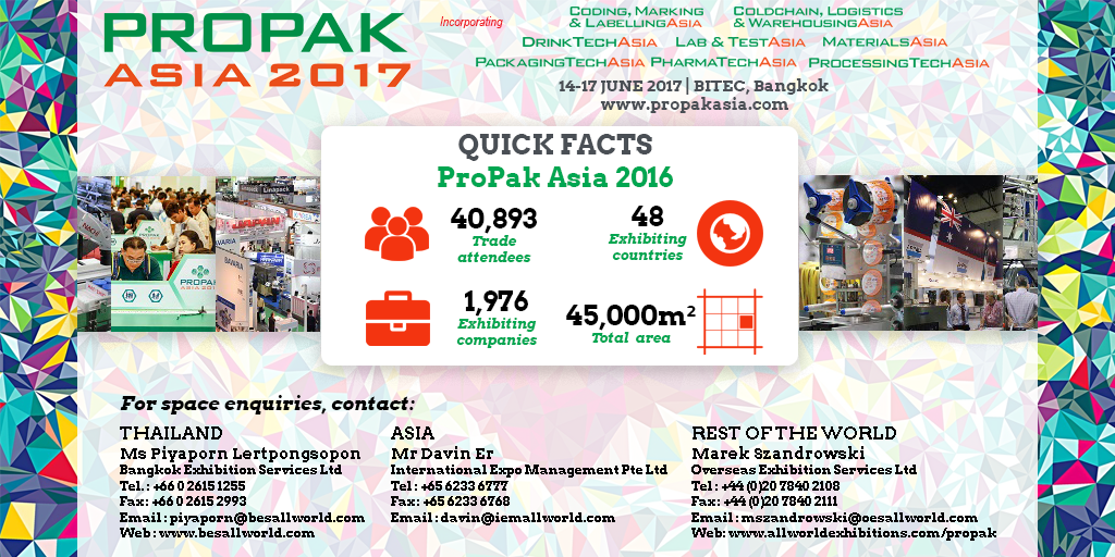 test Twitter Media - Less than 1 month to go until ProPak Asia 2017! https://t.co/Qza2vzwoOX  #processing #packaging #asean #trade #show https://t.co/wnJF9LTALW