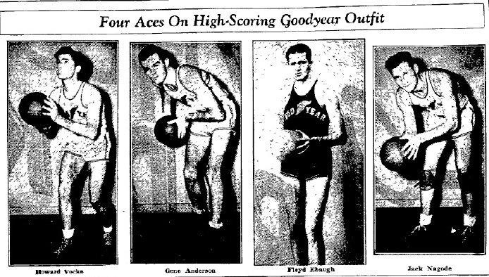Goodyear has had logo on basketball jerseys before. akron goodyear ...