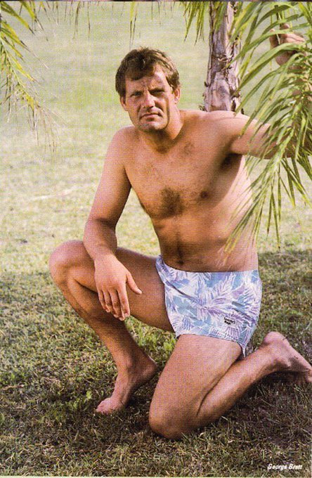 Happy Birthday George Brett. Remember that one time you were in a 1984 issue of Playgirl?
