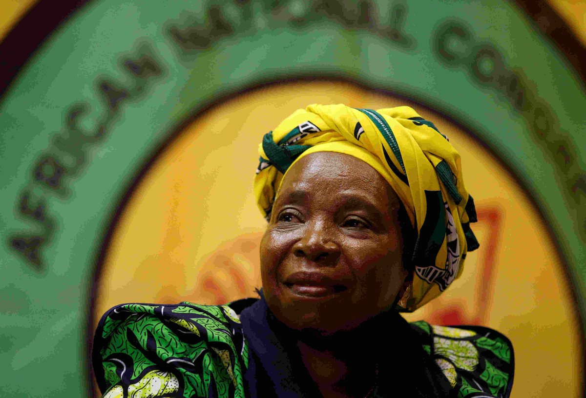South Africa's president backs his ex-wife to succeed him as party leader