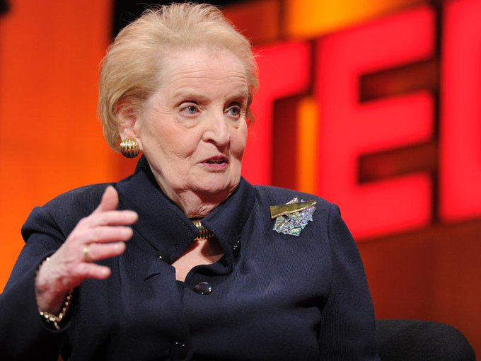 Wishing a Happy Birthday to Madeleine Albright.