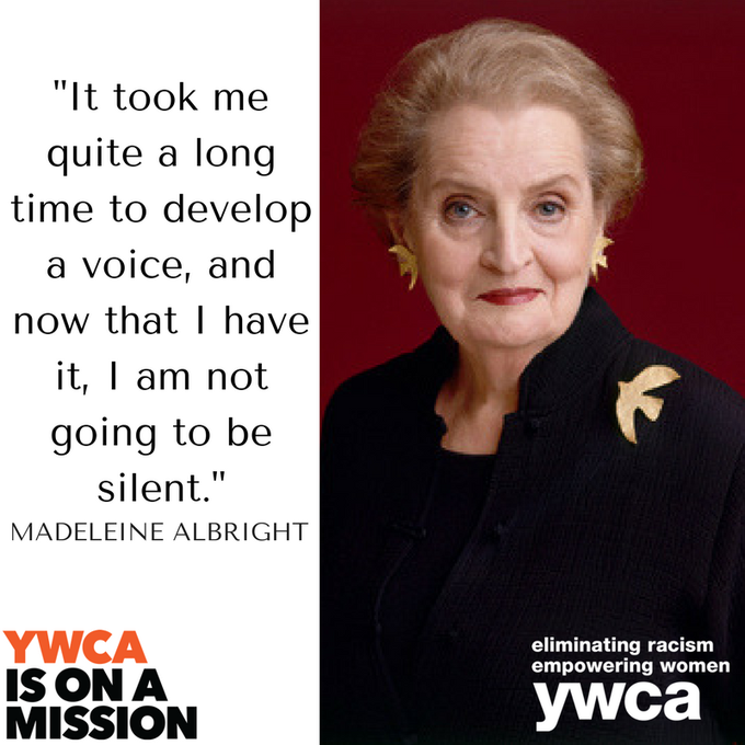 Happy 80th birthday to Madeleine Albright - the first female Secretary of State!