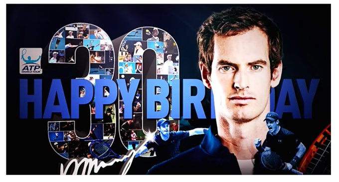 The ATP Tour players wish Andy Murray a happy 30th birthday. Grigor Dimitrov is a standout.