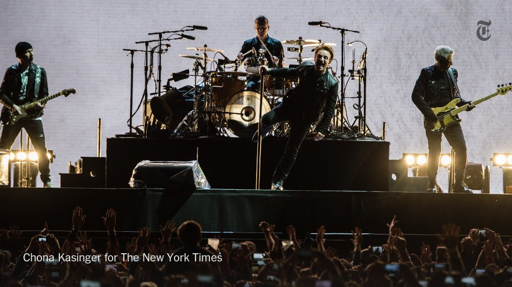 U2's new album was finished but the election changed things. On tour now: 'The Joshua Tree.' https://t.co/J7ylQhjEaR https://t.co/gfkgeFxMxO