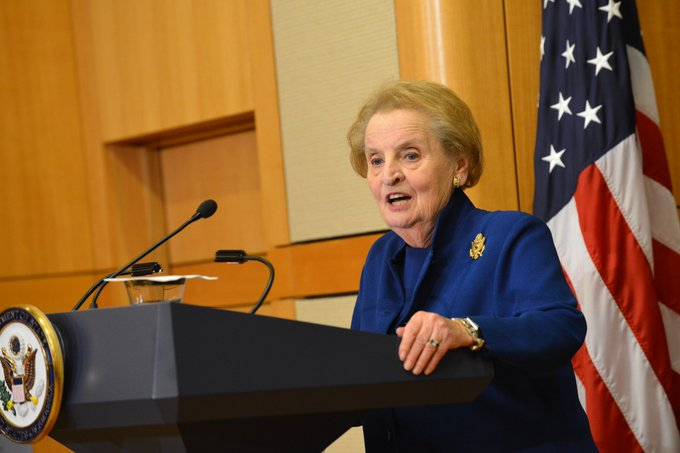 Happy 80th birthday to former Secretary of State Albright!