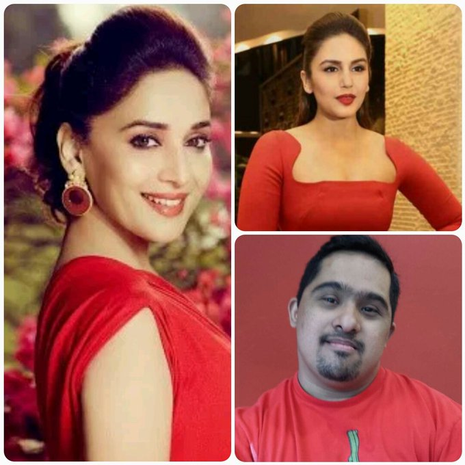 HI madhuri dixit my name ahmed malik  From huma qureshi  Happy birthday madhuri dixit from all of us