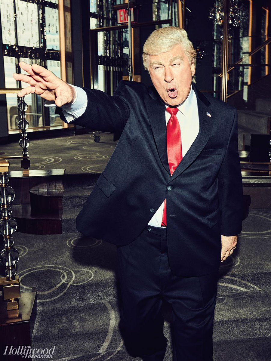 Lorne Michaels reveals it was Tina Fey's idea for @AlecBaldwin to play Trump on