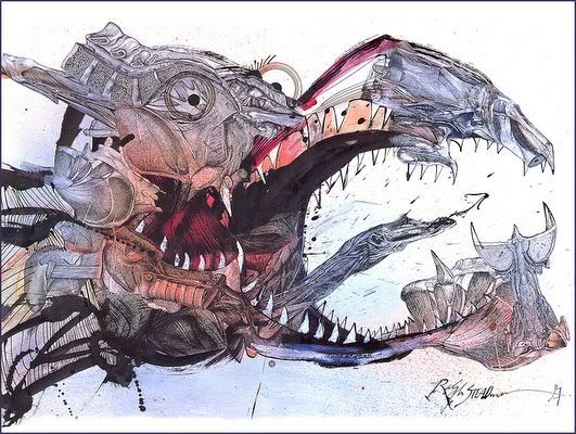 Happy 81st Birthday Ralph Steadman, whose frantic splashes of ink always make me smile.