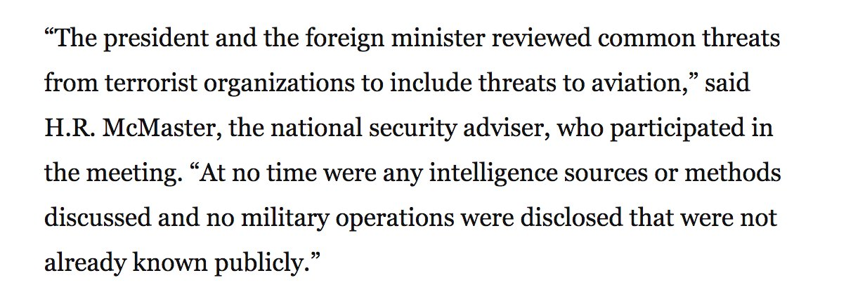McMaster statement to WaPo appears to be a tacit confirmation of the story https://t.co/6hENDGZfZg https://t.co/5WogELU4OX