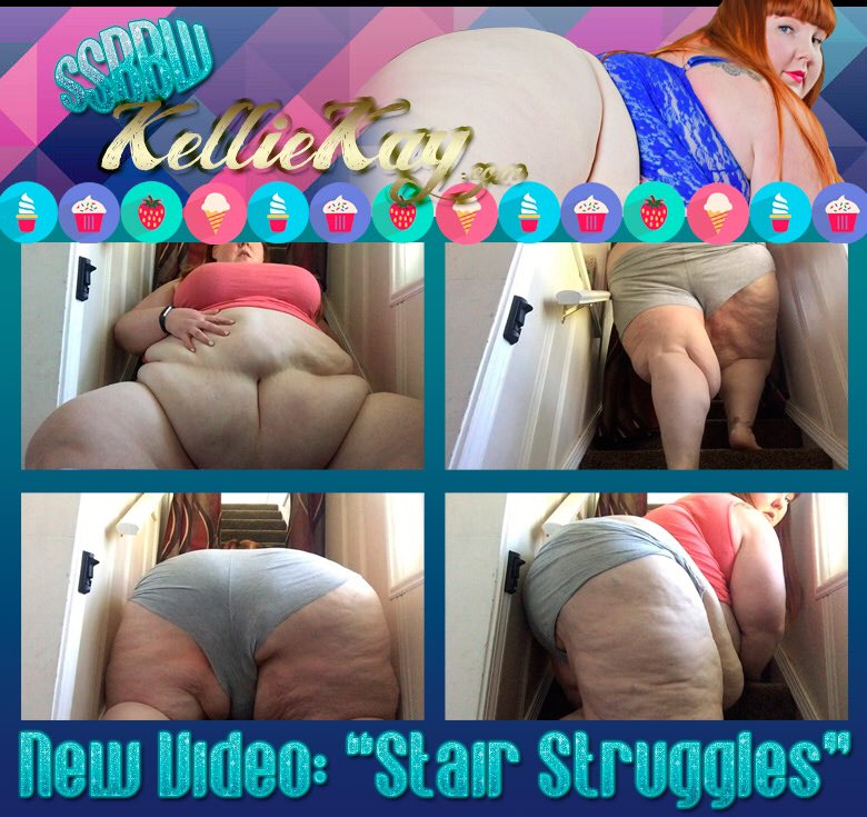 New stair struggle video. Watch me fill this staircase with my fat ass! 8rGeSGohep #ssbbw
