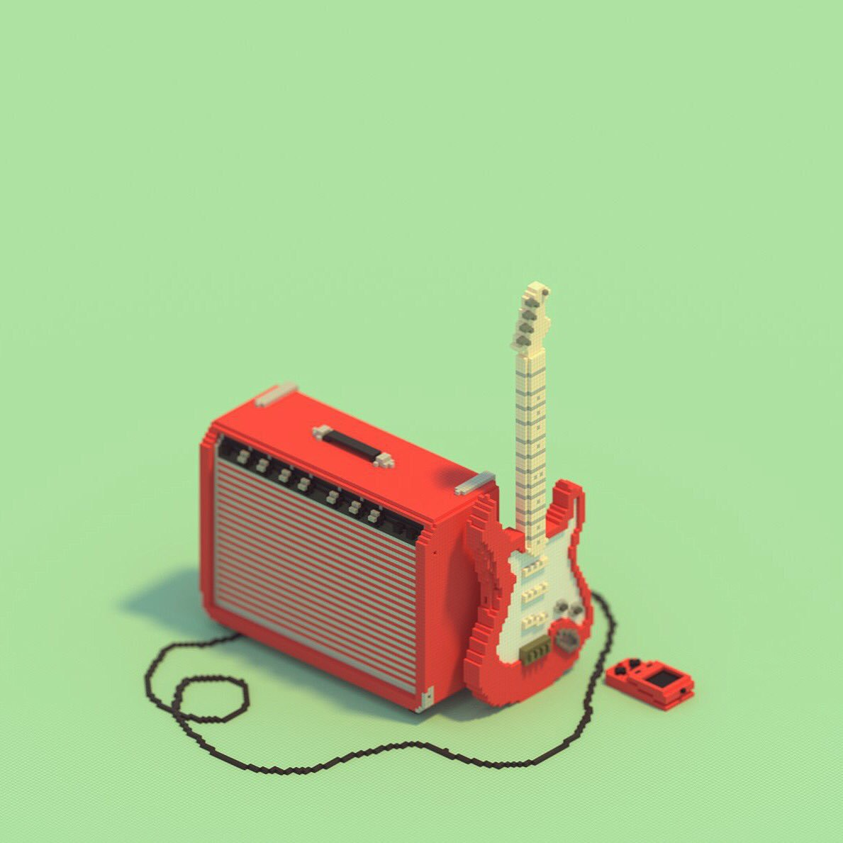 #magicavoxel #voxel #voxelart #fender #guitar https://t.co/fPN4f939r7
