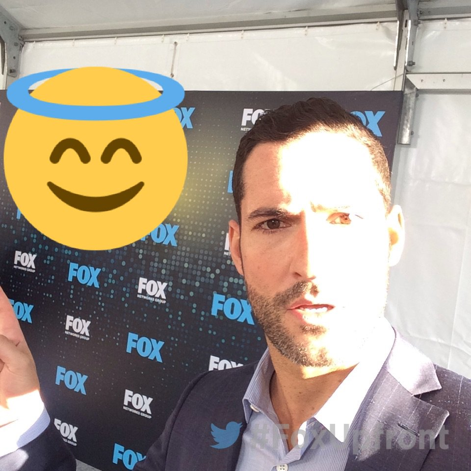 At the #FoxUpfront party with @tomellis17 from @LuciferonFOX