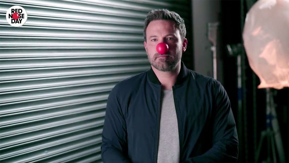 LoveActually cast, Ben Affleck, @HamillHimself and more team up for Red Nose Day promo