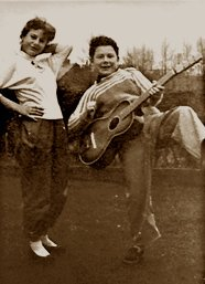 Happy birthday Robert Fripp (seen here with his sister Pat).
