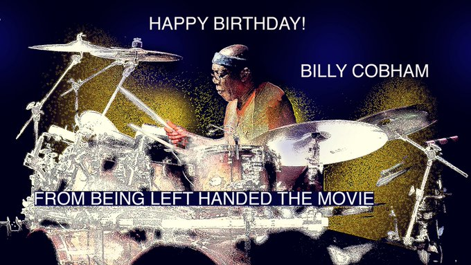 Happy Birthday, amazing lefty drummer Billy Cobham