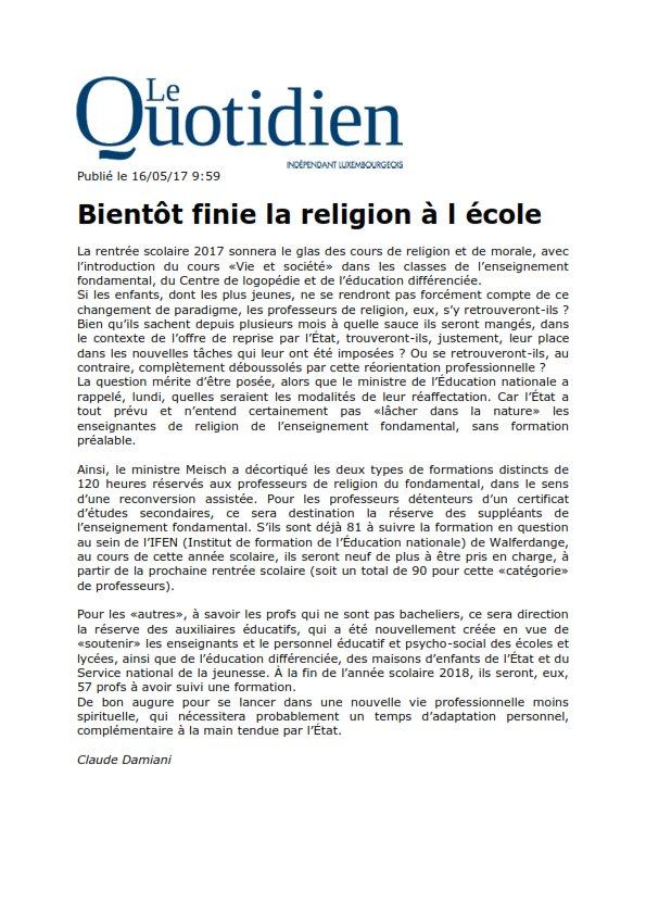 test Twitter Media - RT @SEELIGMichel1: #laïcité Le #Luxembourg donne l'exemple - À suivre en #Moselle et #Alsace @EmmanuelMacron https://t.co/cvfcjDWSqI