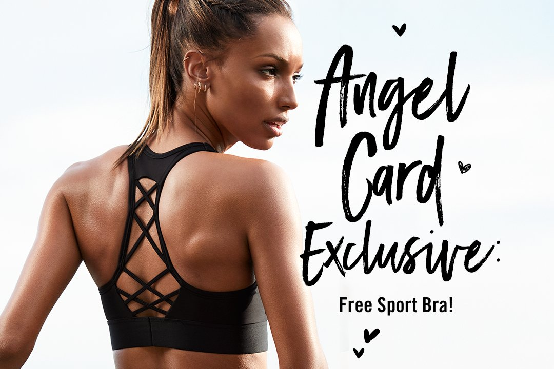 Today's win: FREE Player Sport Bra when you use your Angel Credit Card! Learn more: https://t.co/ipzbqq1Haw https://t.co/zzDrThMkn7