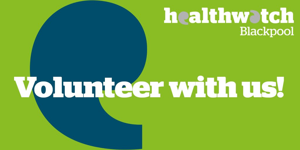 test Twitter Media - RT @HealthwatchBpl: Healthwatch Blackpool is looking for #volunteers ! Find out more here: https://t.co/DPuV17tYdF https://t.co/SXVCMfTMNT