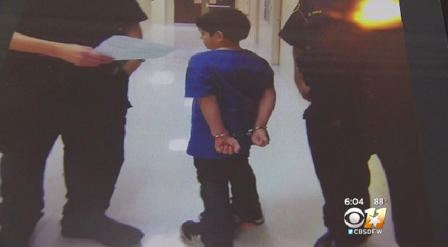 Special needs 7-year-old handcuffed by police at school