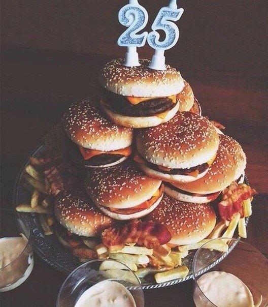 Торт из гамбургеров своими руками 20
