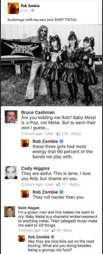 Rob Zombie is savage af. https://t.co/i8Ea40mBVX