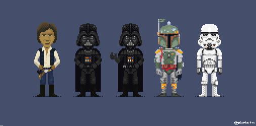 All the #StarWars characters I've made with the style of #thimbleweedpark  #pixelart https://t.co/AjilXBFSLM