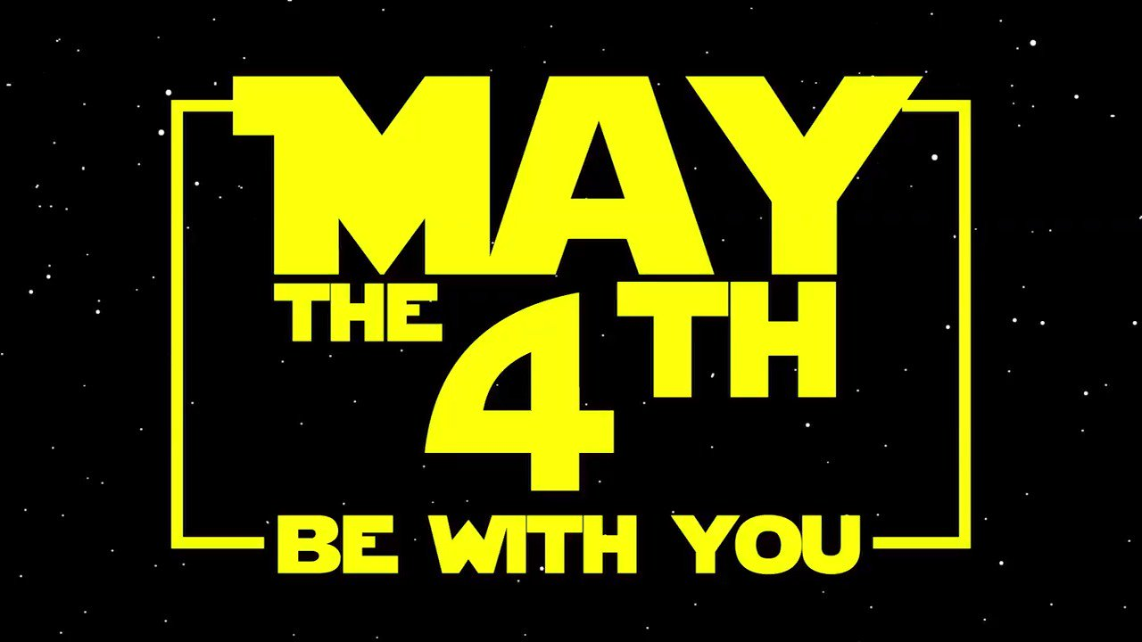 Happy #StarWarsDay! Live long and prosper. Something like that. #MayThe4thBeWithYou https://t.co/UC6TFpkWt5
