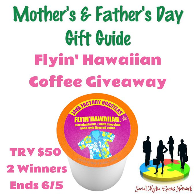 Java Factory Flyin' Hawaiian Coffee 2 winners Giveaway