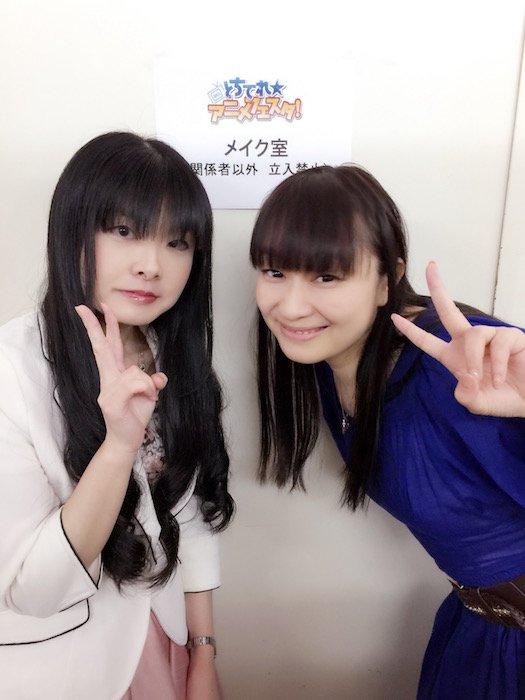 とちぎテレビのオリジナルご当地キャラ、まろに☆えーるのキャラクターデザインを手掛ける一葵さやか先生と今井さんの記念写真!