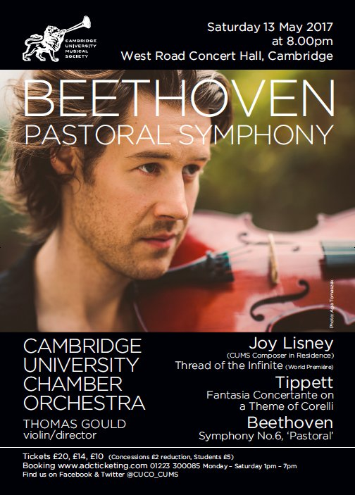 test Twitter Media - 8 days to go until @CUCO_CUMS perform Tippett, Beethoven & new work by @JoyLisney with @ThomasGouldVLN! @WestRoadCH #newmusic #beethoven https://t.co/MSwXAmsAPi
