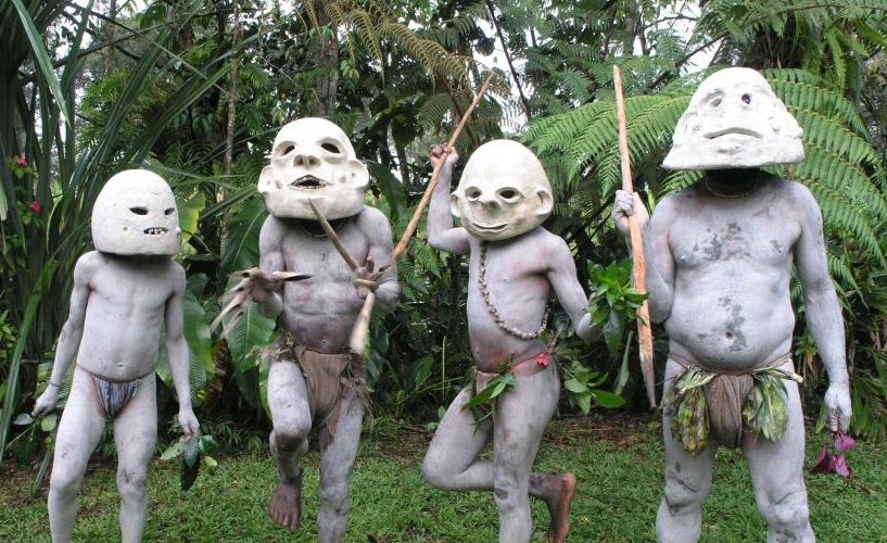 Fearsome 'mudmen' of Papua New Guinea who live in one of the world's most remote forests revealed in pics that are bound to scare the kids