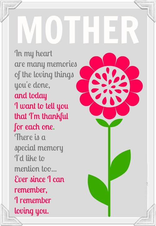Valentines day poems for mothers