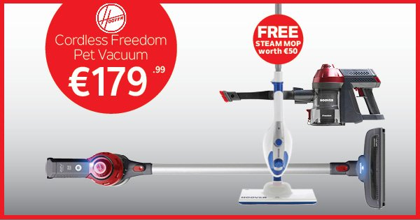 Step up this Spring to the Hoover Freedom vacuum cleaner & get a FREE steam mop worth €50! - https://t.co/WDESufeI6X https://t.co/08yUIdwkjK