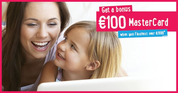 Get a bonus €100 MasterCard when you Flexirent over €899!* For full details, see here - https://t.co/EhgObiK957 https://t.co/X5X4oFfpbm