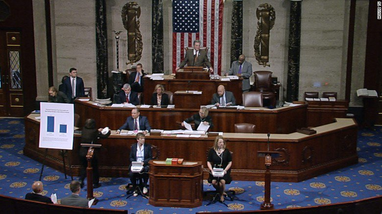 31 seconds of the US healthcare vote that shows why people hate politics