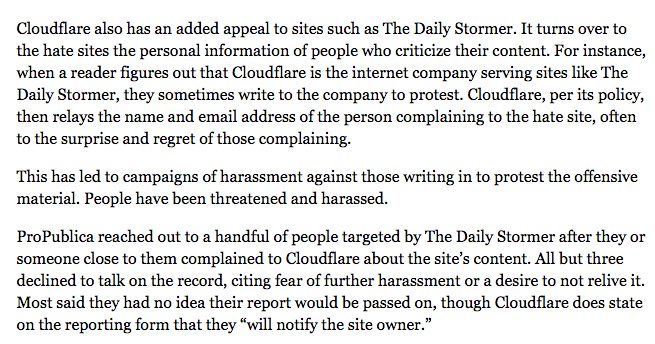 Wow. Also wild to think that the FBI, OKCupid & Daily Stormer all use the same company. https://t.co/MGnwVQ7NPI https://t.co/3j1vxQS8uW