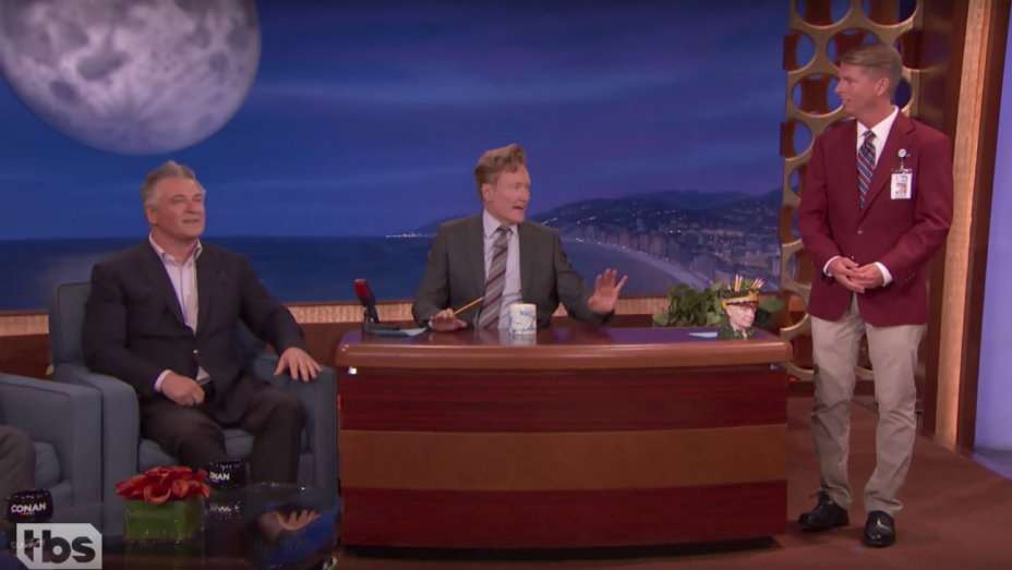 Watch: @AlecBaldwin does a Trump-off with Conan O'Brien's staff and Jack McBrayer