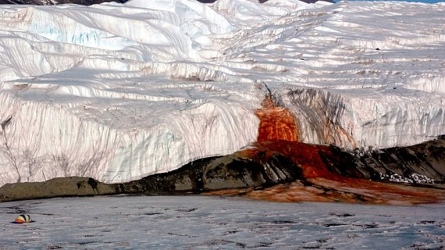 Blood Falls: Scientists solve century-old mystery of Antarctica's red waterfall