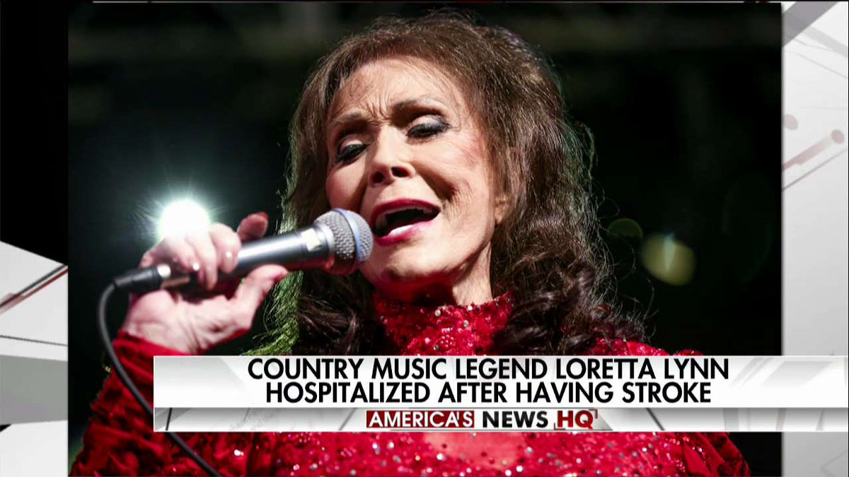 Country music legend Loretta Lynn hospitalized after having stroke.