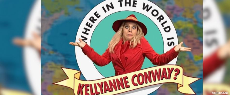 """""""Saturday Night Live"""" sketch asks """"Where in the World is Kellyanne Conway?"""""""