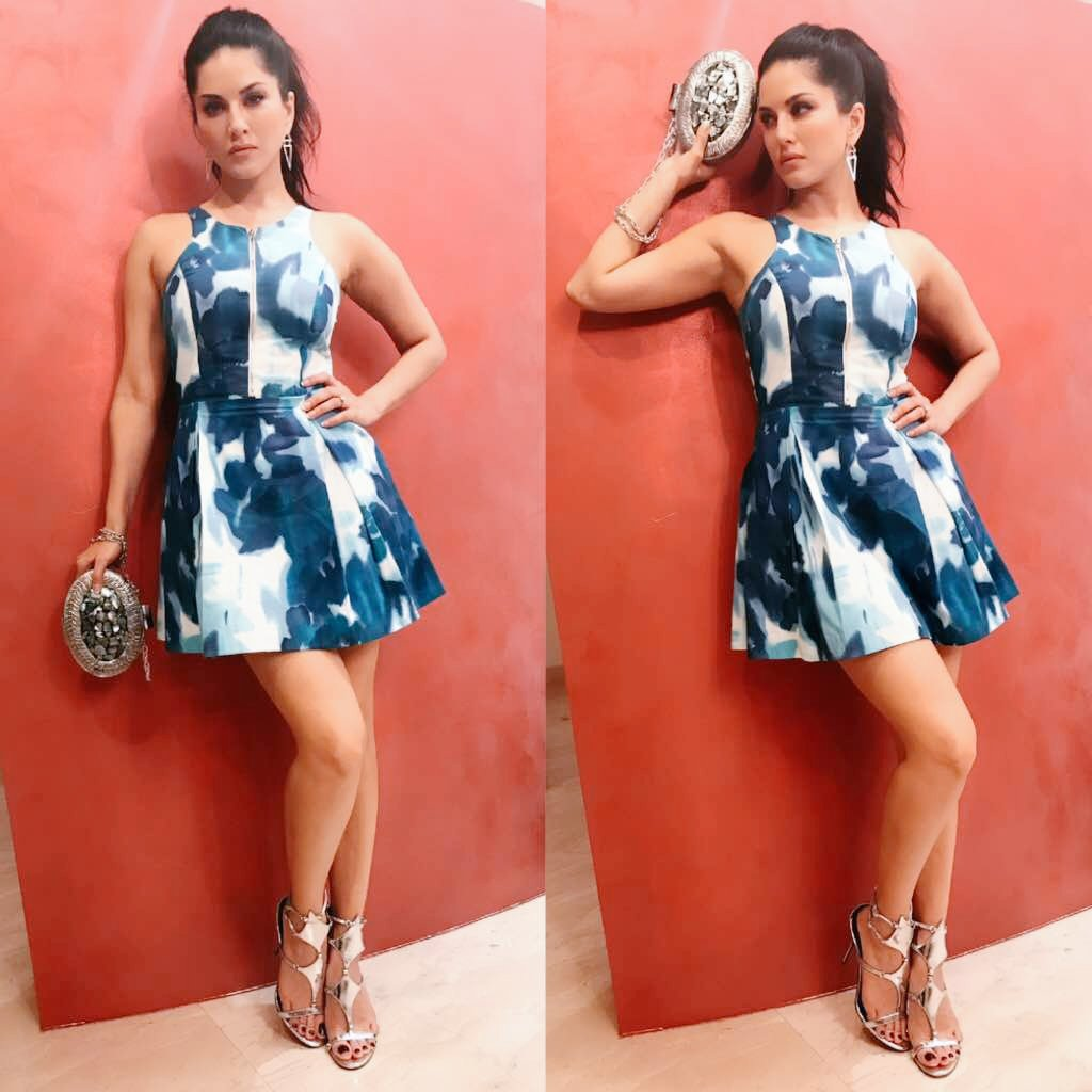 Had so much fun in this cute and super comfy dress 😜 Outfit by  #SunnyLeone #MasalaCommentary