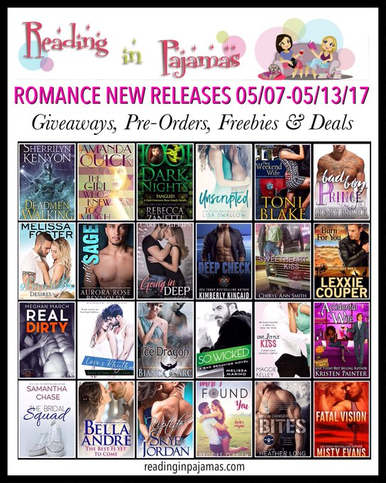 ROMANCE NewReleases 05/07-05/13/17 Giveaways PreOrders Freebies & Deals