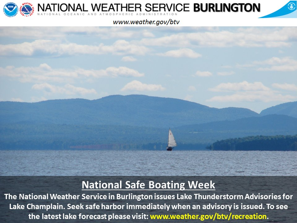 test Twitter Media - National Safe Boating Week runs from May 20-26, 2017. Be particularly alert for changes in the weather and the threat from thunderstorms. https://t.co/difPUr80cI