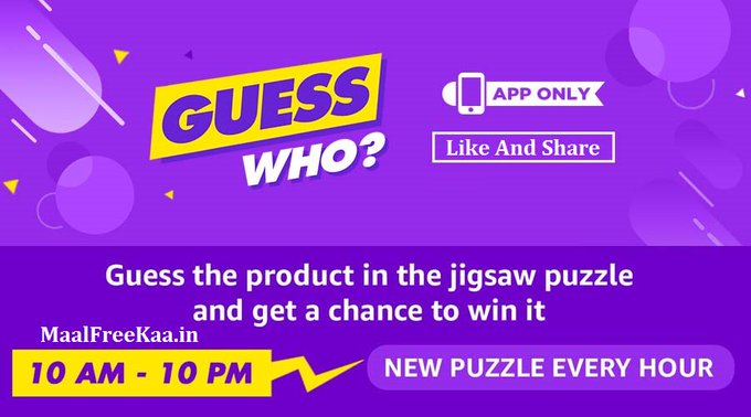 Guess Who Amazon Apps Contest And Win it