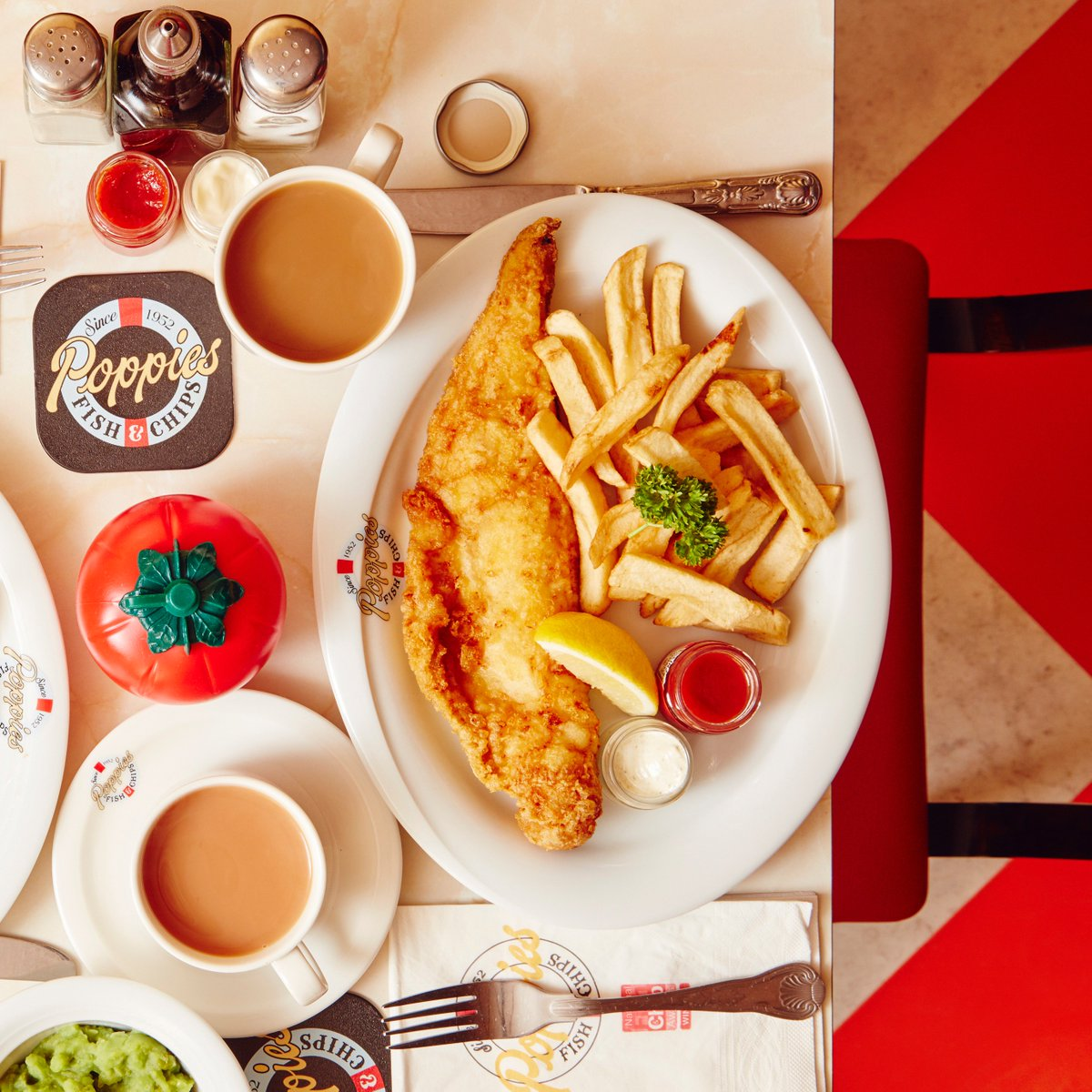 The fish and chips at Poppie's Fish & Chips London's Best Retro Dishes